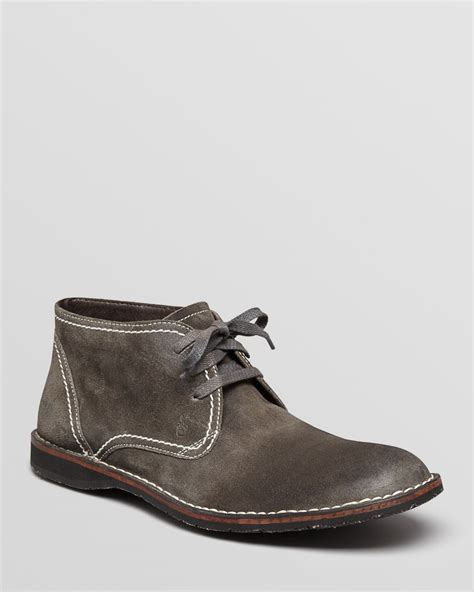 grey chukka boots varvatos suede chukka boots in gray for