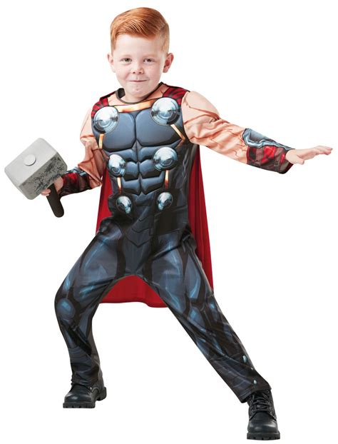 thor premium boys costume costumes deluxe thor infinity war boys costume tv book and costumes mega fancy dress
