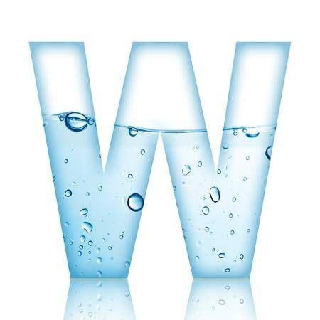 el agua  la letra del alfabeto de burbuja de agua  la
