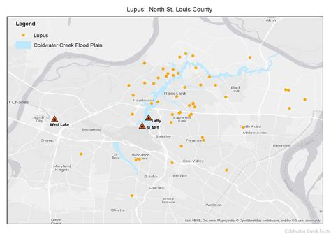 coldwater creek map lupus coldwater creek facts