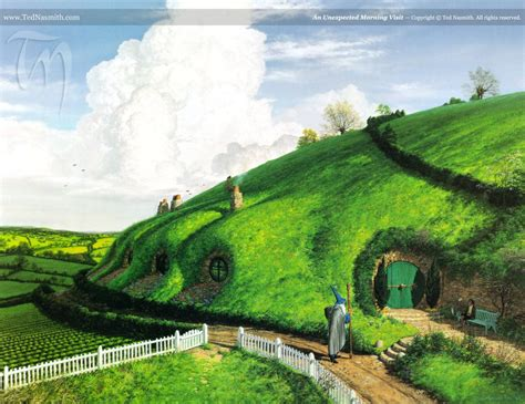 Midgard And Middle Earth tolkien nasmith painting illustration lord of the