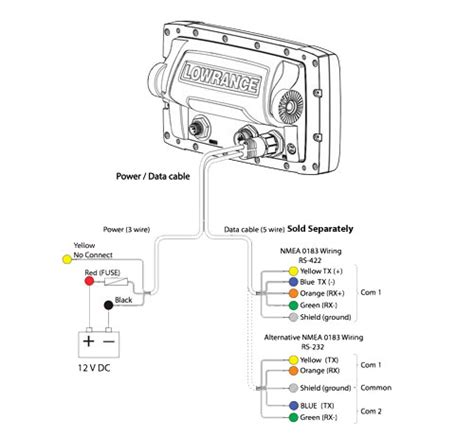 depth transducer wiring diagram transducer wire color code