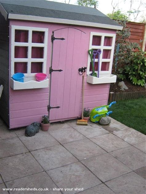 pretty pink palace cabin summerhouse from garden owned by