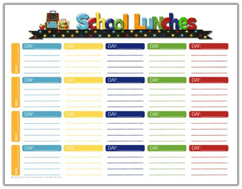 school lunch calendar template school lunch ideas a free school lunches printable