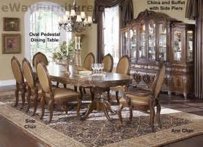 Oval Dining Room Table Set 7 Pc Lavelle Melange Oval Pedestal Wood Dining Room Table And Chairs Set Ebay
