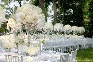 Flowers For Table Decorations Romantic White Wedding By The Lake Jennifer And Richard
