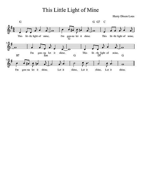 This Little Light of Mine - 楽譜 - カントリーアン, 無料楽譜