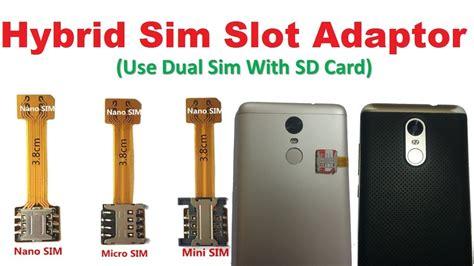 converter sim hybrid nano sim adapter for hybrid sim slot smartphones
