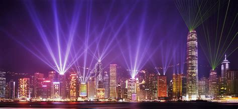 Hong Kong Light Show by Eneltec Led Light Show In Hong Kong Eneltec