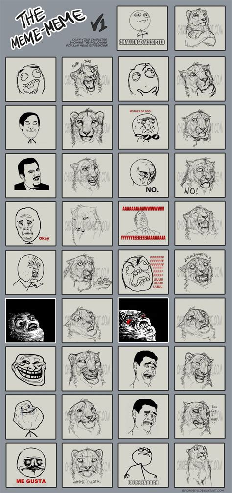 Popular Meme Faces - popular meme reimagined with a lion face youbentmywookie