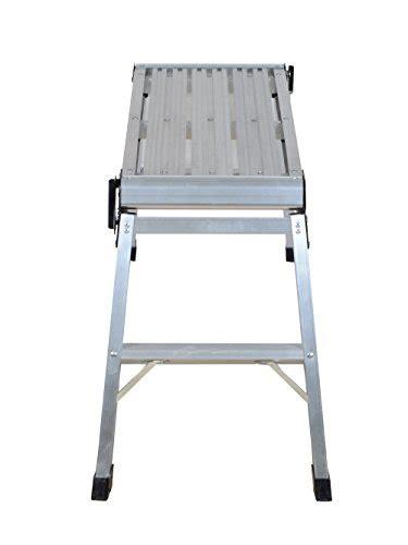 20 inch high bench tms 20 inch high aluminum platform folding work bench
