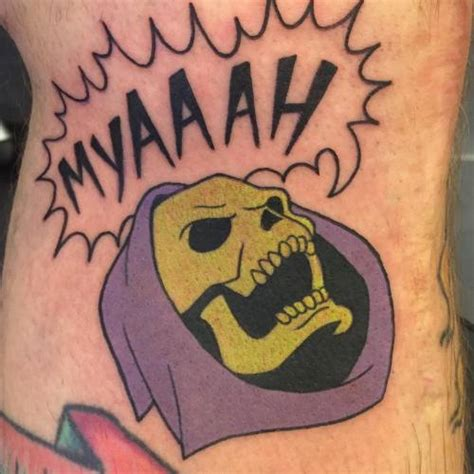 skeletor tattoo skeletor on