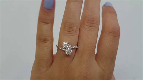 2 Carat Total Forever Us Round Natural Diamond Two Stone