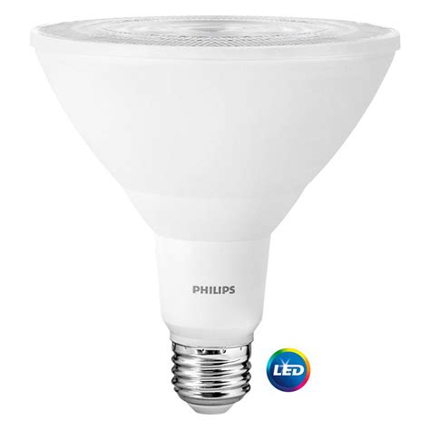 Philips 100 Watt Led Light Bulb Philips 100 Watt Equivalent Daylight Par38 Indoor Outdoor Led Light Bulb 2 Pack 460121 The