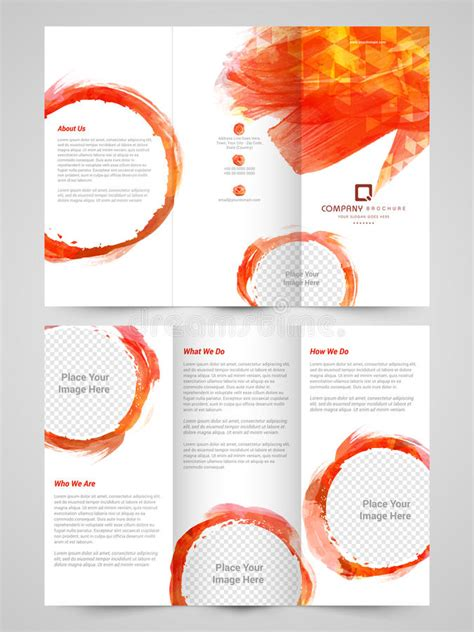 2 sided brochure templates abstract business trifold brochure template or flyer