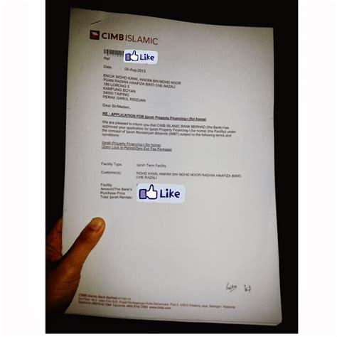 Offer Letter Asb Loan Beli Rumah Sting Loan Agreement With Cimb