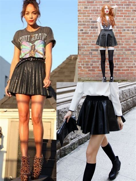 Edgy Skirt the skater skirt the fashion tag