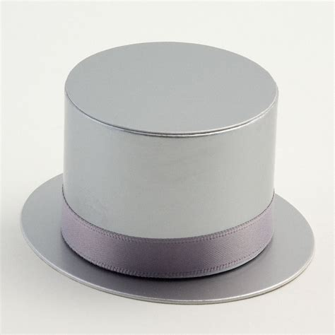 Silver Top Hat Favour Boxes at Favour This
