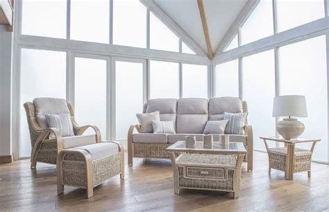 Shore House Furniture by Shore Wicker Rattan Conservatory Furniture Large Sofa