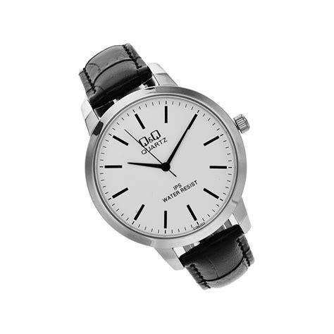 q q c212j301y black leather analog s wrist