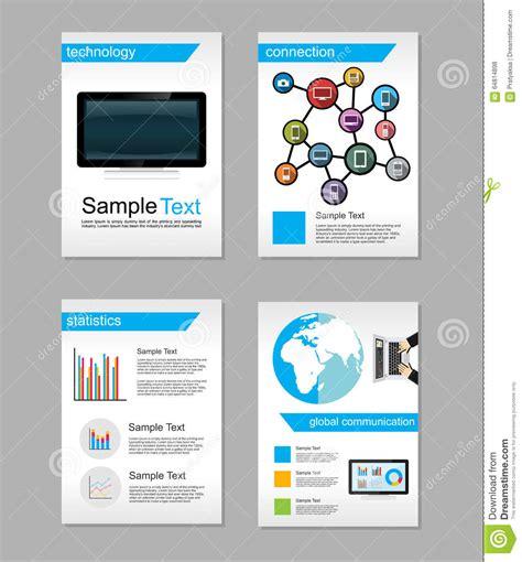set of flyer brochure design templates information