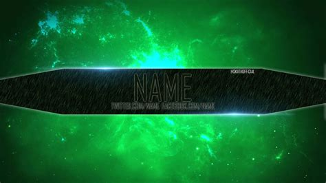 channel art template 2 green slime by skiithofficial on