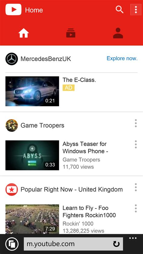 youtub mobil s updated mobile site works well on windows