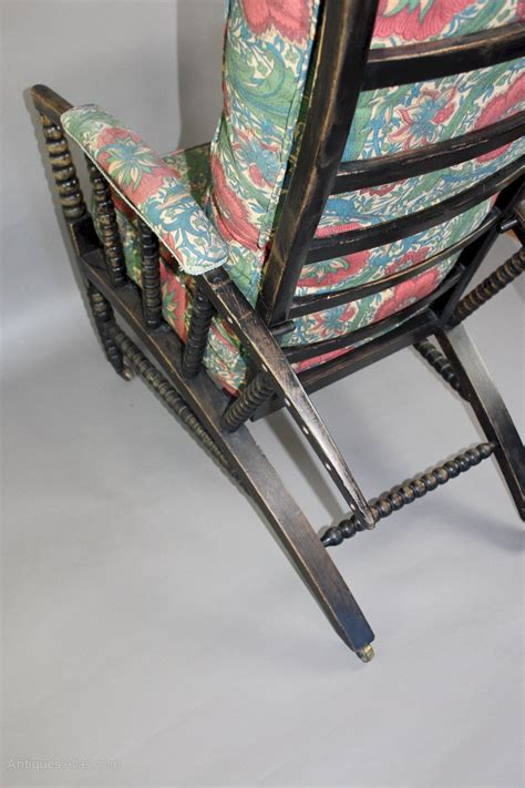 william morris type adjustable reclining armchair