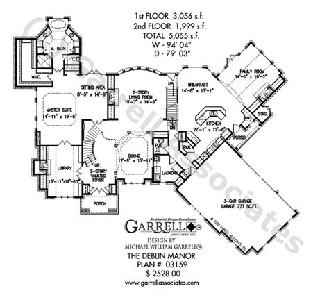 deblin manor house plan house plans by garrell