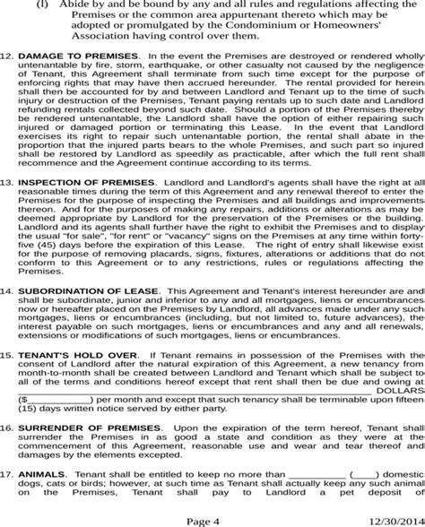 Download New Hshire Residential Lease For Free Page 4 Formtemplate Nh Rental Agreement Template
