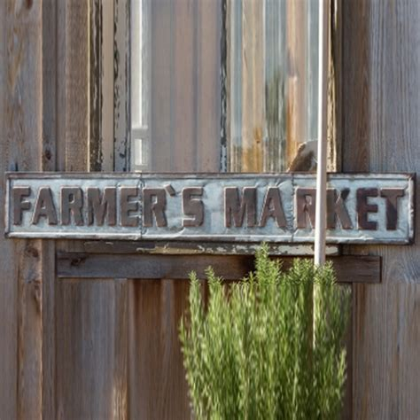 park hill home decor park hill collection metal farmer s market sign fh6107