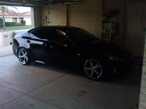 black lexus 2006 my black lexus is250 with fabulous mb 5 rims clublexus
