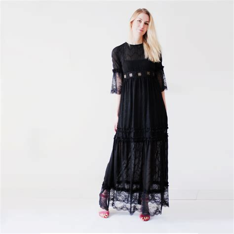 Maxi Bohemian Dress Alia Black lover lace maxi dress festival maxi dress summer dress black lace dress bohemian
