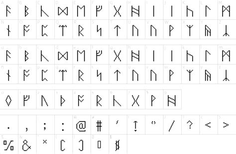 pixel runes font   fonts