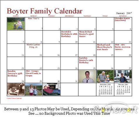how to make a calendar with family pictures scottwoo1 s weblogs