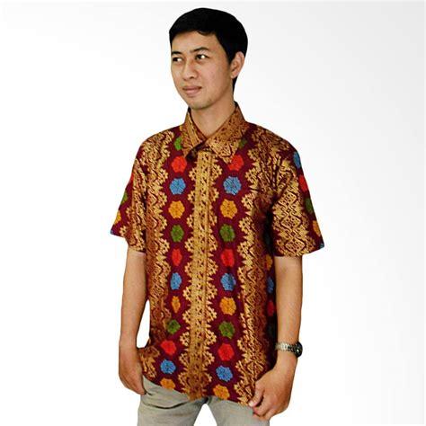 Baju Kaos Lengan Pendek Pria Motif Batik Etnik jual mayura batik etnik motif tenun bali kemeja batik pria
