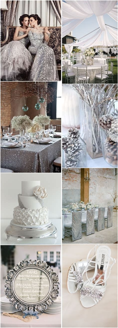 And Silver Wedding Flower Ideas by 50 Silver Winter Wedding Ideas For Your Big Day Deer