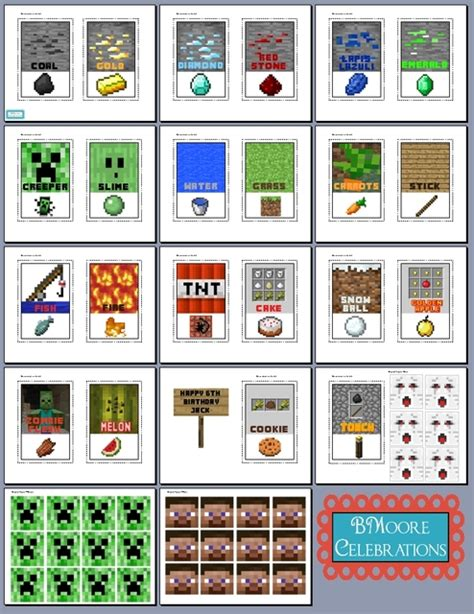 printable minecraft label 8 best images of minecraft food printables minecraft