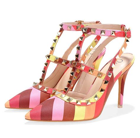 popular high heels 2015 summer dress shoes pumps rainbow high heels