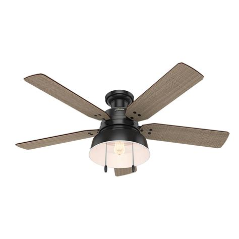 black outdoor ceiling fan mill valley 52 in led indoor outdoor low profile