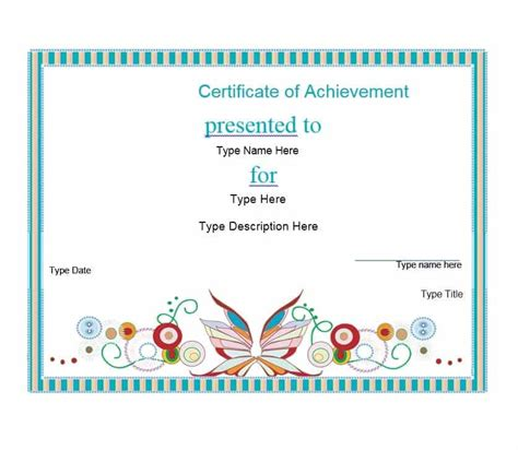 template for a certificate of achievement 40 great certificate of achievement templates free