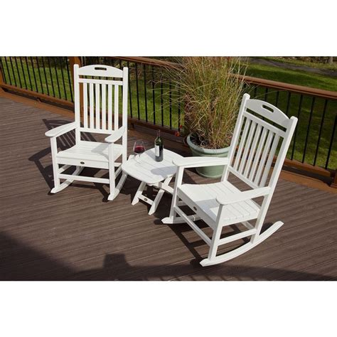 trex outdoor furniture yacht club classic white  piece