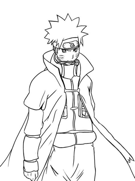 awesome naruto coloring page  print