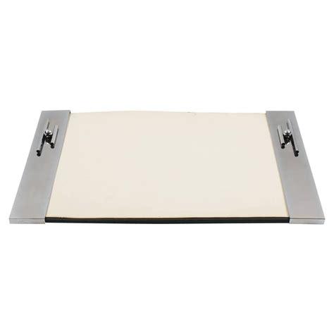 french art deco modernist chrome desk blotter pad circa