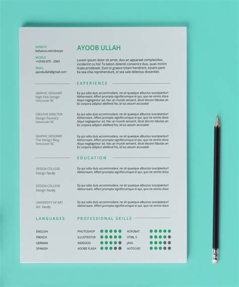 resume templates 2014 10 best free professional resume templates 2014
