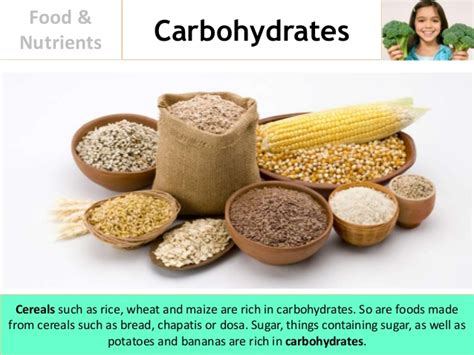 carbohydrates what foods food and nutrients