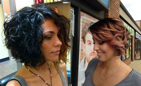 a line bob hairstyles pictures with curly hair curly a line bob hairstyle fade haircut