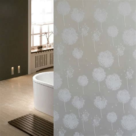 frosted bathroom window film frosted privacy 3d flower window glass film sticker