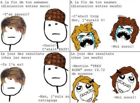 Meme Francais - comic bd meme examen resultats mec meuf image animated gif
