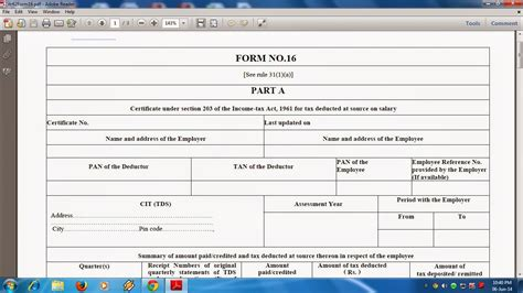 automated modified format of form 16 for the